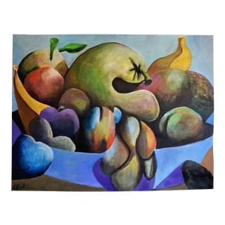 """Still Life With Gourds"" Geoff Greene Acrylic Painting For Sale"