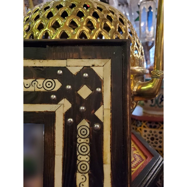 Large Moroccan Rectangular Resin Inlay Mirror For Sale - Image 4 of 7
