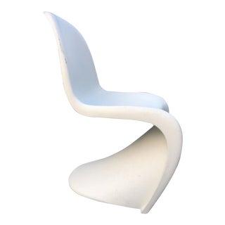 1960s Mid Century Modern Vernon Tamtan for Vitra White Panton Chair