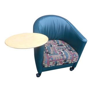 Modern Brayton International Leather Club Chair For Sale