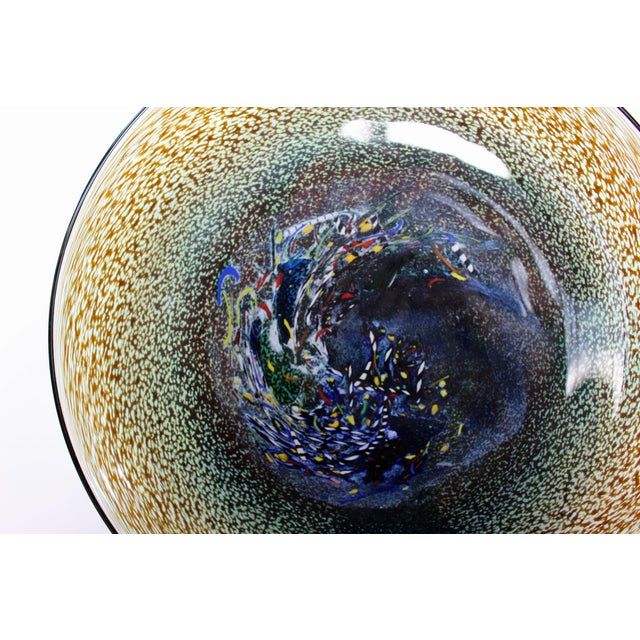 Bertil Vallien Kosta Boda Meteor Bowl For Sale In Boston - Image 6 of 7