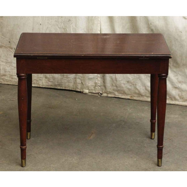 Vintage Flip Top Storage Table For Sale - Image 9 of 10