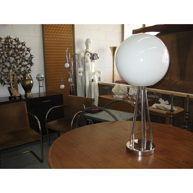 Mid-Century Modern Chrome Table Lamp - Image 2 of 11