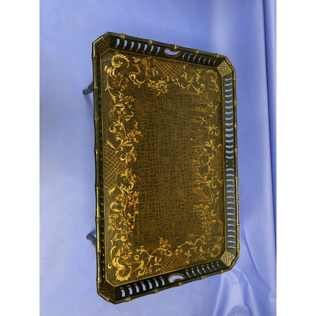 Chinoiserie Folding / Coffee Tray Table For Sale - Image 4 of 7