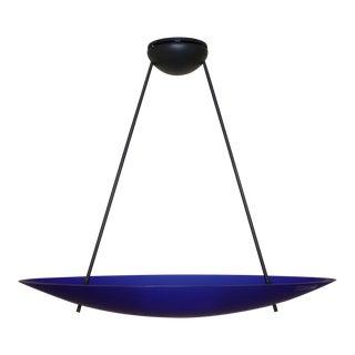 Blue Murano Pendant Glass Lamp Carlo Nason for Murano Due For Sale