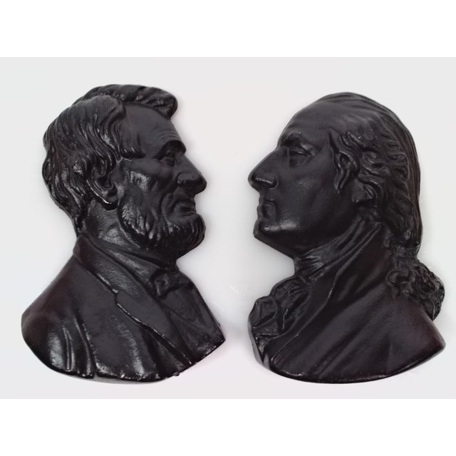 Presidents Cast Iron Wall Decor - A Pair - Image 2 of 6
