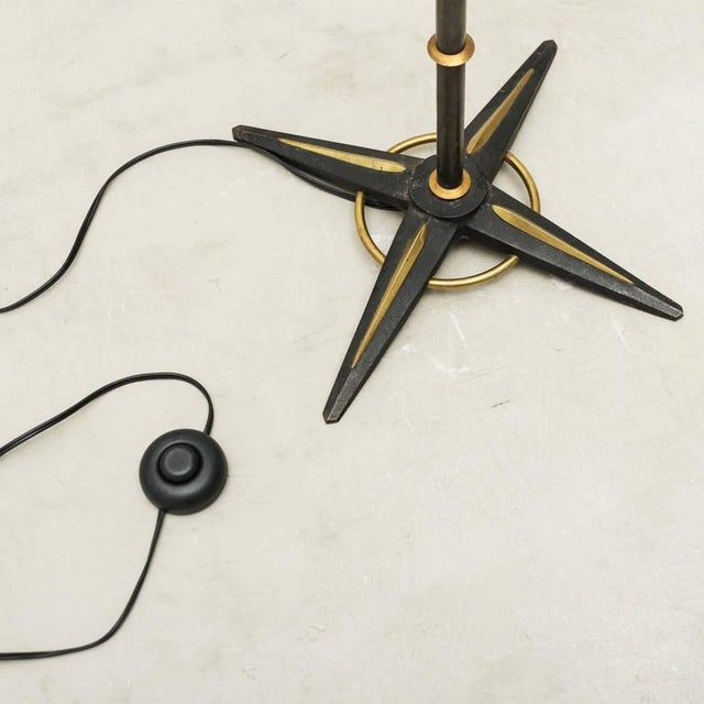 Jacques Adnet Style Star-Base Floor Lamp, France, 1950s - Image 5 of 7