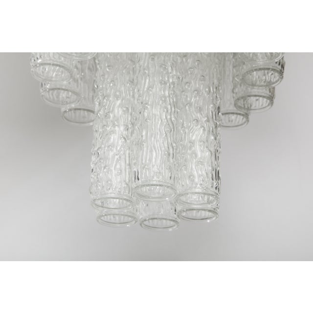 Transparent Murano Glass Tube Chandelier For Sale - Image 8 of 10