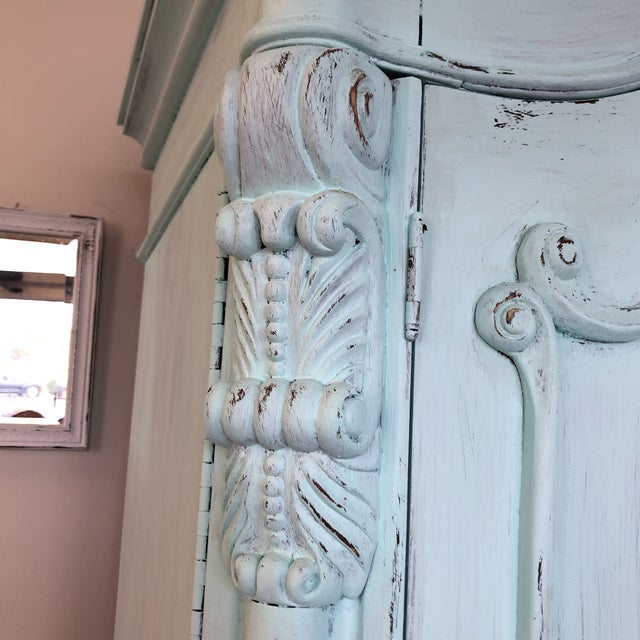2010s French Provencal Large Scale Armoire For Sale - Image 5 of 13