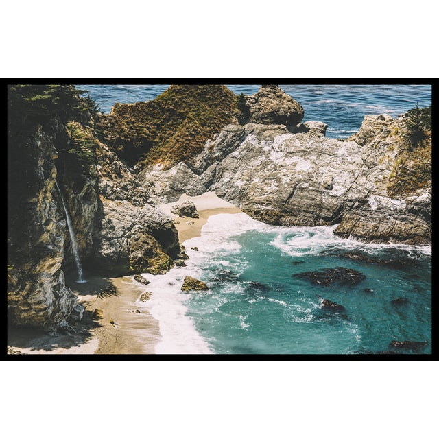 McWay Falls - Big Sur Original Framed 16x20 Photograph For Sale - Image 4 of 6