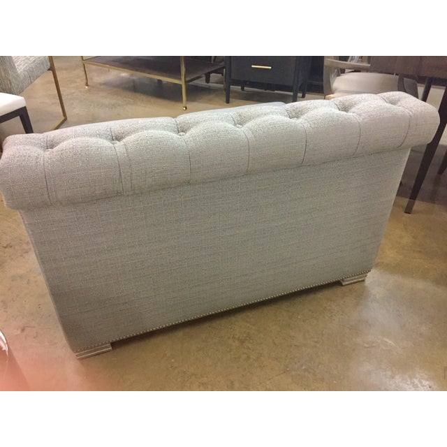 Century Furniture Modern Chesterfield Century Furniture Armless Love Seat For Sale - Image 4 of 7