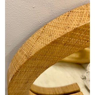 Mid-Century Modern Grass Cloth Wrapped Mirror Preview
