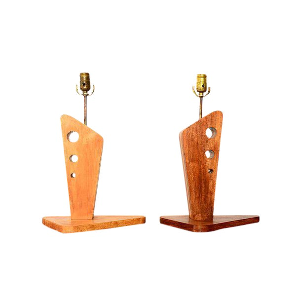 Pair of Mid-Century Table Lamps by George Gin For Sale
