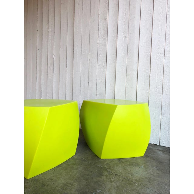 1980s Twist Cubes by Frank Gehry for Heller- a Pair For Sale - Image 5 of 10