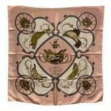"""Image of Hermes """"Springs"""" Equestrian Themed Silk Scarf For Sale"""