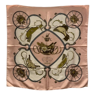 "Hermes ""Springs"" Equestrian Themed Silk Scarf For Sale"