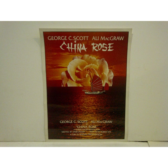 """A Vintage Television Movie Poster -- """"China Rose"""" -- George C. Scott And Ali MacGraw -- CBS Television Special..."""