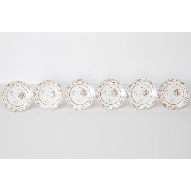 Early 19th Century Chinese Porcelain Plates Set of Six For Sale - Image 4 of 13