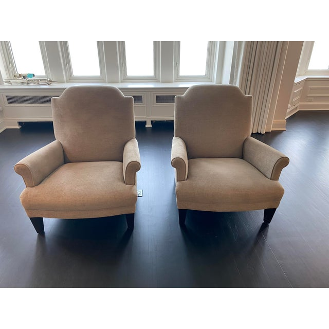 Dove Gray Holly Hunt Gray Chairs - A Pair For Sale - Image 8 of 9