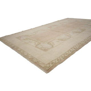 Turkish Soft Colored Oushak Area Rug - 3′10″ × 6′6″ Preview