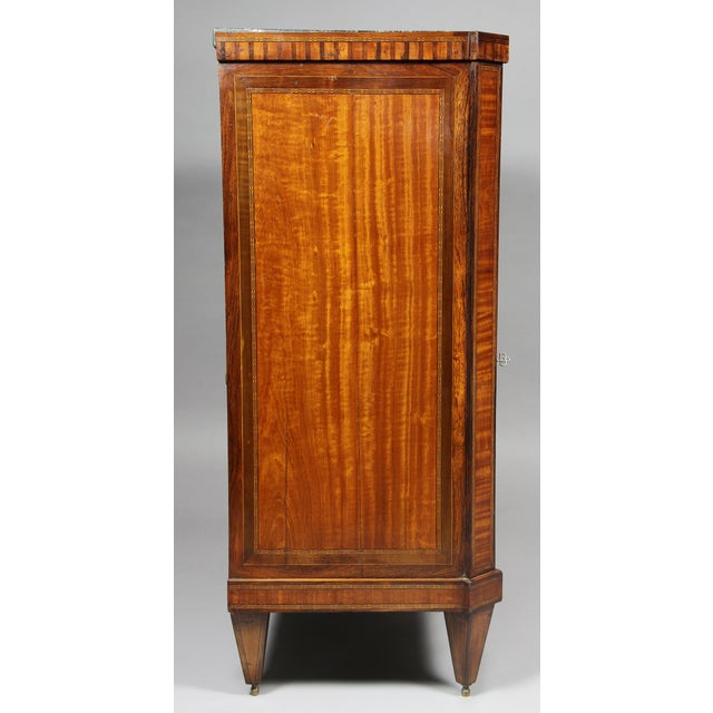 Dutch Neoclassical Satinwood and Japanned Cabinet For Sale - Image 12 of 13