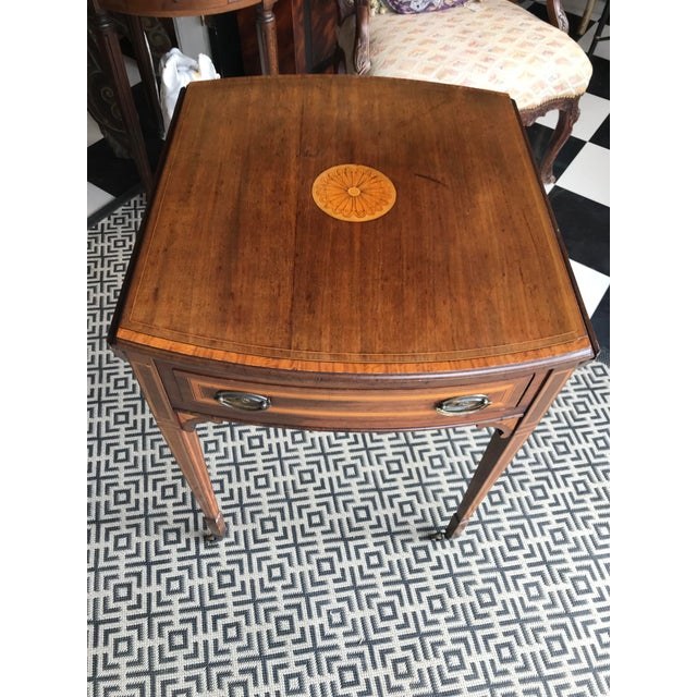19th Century Traditional Mahogany Drop Leaf Oval Side Table For Sale - Image 9 of 11