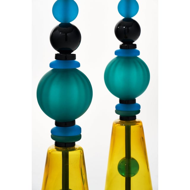 Murano Glass Geometric Lamps For Sale - Image 11 of 12