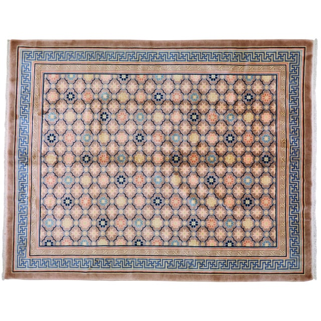 """Antique Chinese Rug,8'x10'1"""" For Sale"""