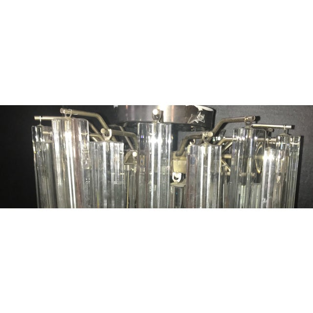Mid-Century Modern 1960s Mid Century Modern Venini Murano Glass Prism Chandelier For Sale - Image 3 of 9