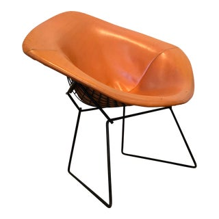 Bertoia for Knoll Black Diamond Chair With Original Orange Cover For Sale