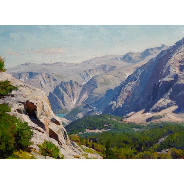 1970s Vintage Taylor Lynde Montana Lake Scenery Oil Painting For Sale - Image 4 of 10