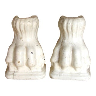 French Plaster Lion Paw - a Pair For Sale