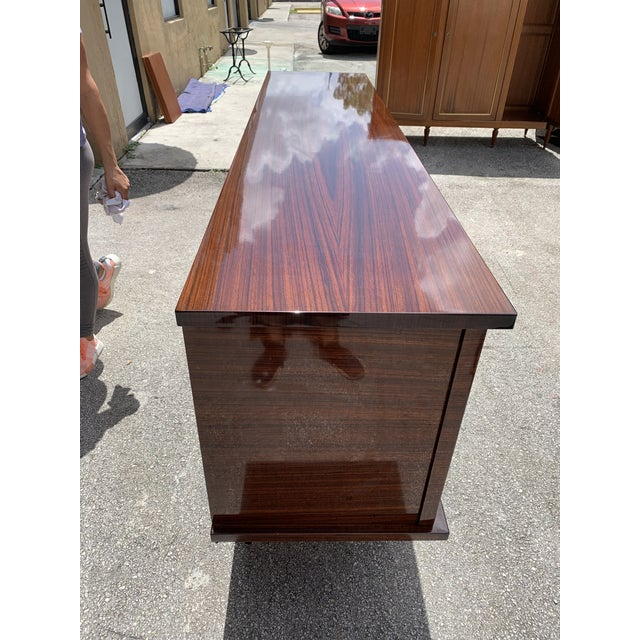 1940s Vintage French Macassar Ebony Sideboard For Sale In Miami - Image 6 of 13