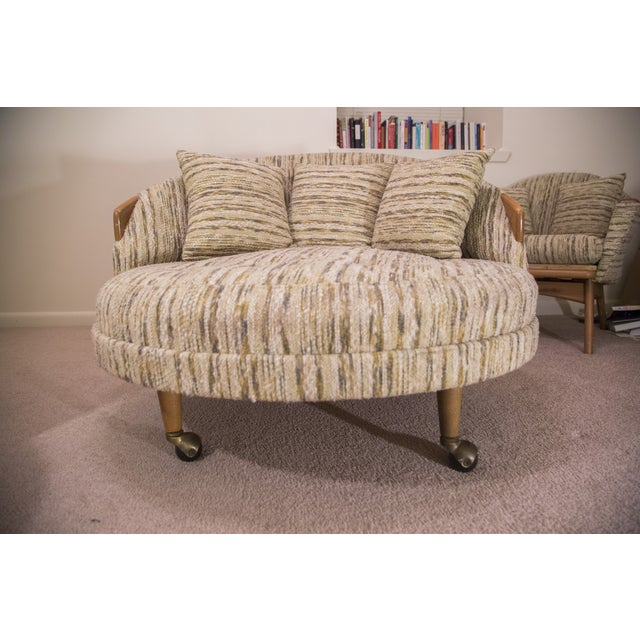 Round Mid-Century Modern Lounge Chair - Image 2 of 7