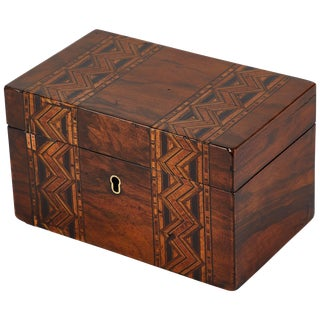 Late 19th Century Inlaid Decorative Box From England For Sale