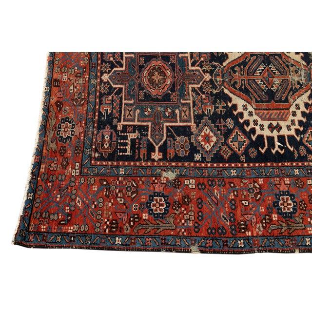"1920s Antique Persian Heriz Rug, 4'6"" X 6'2"" For Sale - Image 5 of 9"