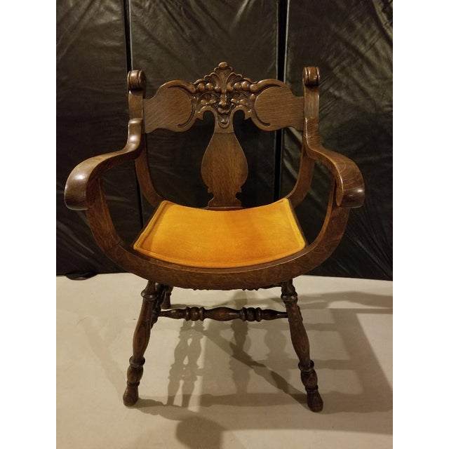 Vintage Mid-Century Curule Arm Chair For Sale - Image 11 of 11