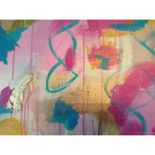 Canvas Michelle Chong Abstract Mixed Media on Canvas Pastel Painting For Sale - Image 7 of 9