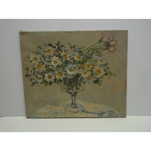 "Gray 20th Century Contemporary Original Framed Painting on Canvas, ""Bouquet of Flowers"" by Frederick McDuff For Sale - Image 8 of 8"