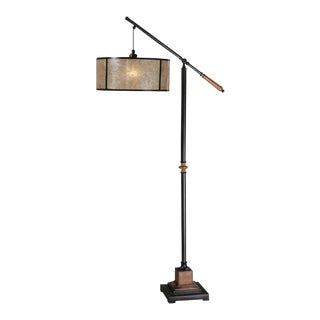 Mission Industrial Floor Lamp For Sale
