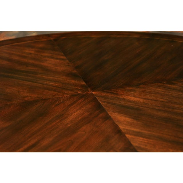 Majestic Restored Elliptical Walnut Extension Dining Table by Baker, circa 1958 For Sale - Image 10 of 11