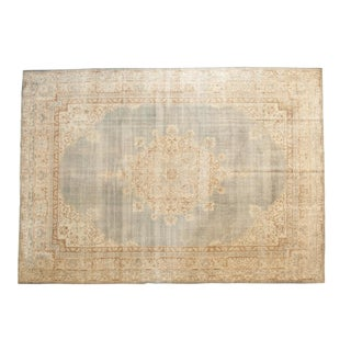"Vintage Distressed Sivas Carpet - 8'6"" X 11'11"" For Sale"