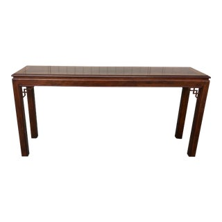 1990s Chippendale Drexel Heritage Console Table For Sale
