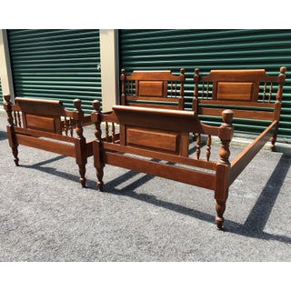 Solid Cherry Harden Furniture Twin Beds- a Pair Preview