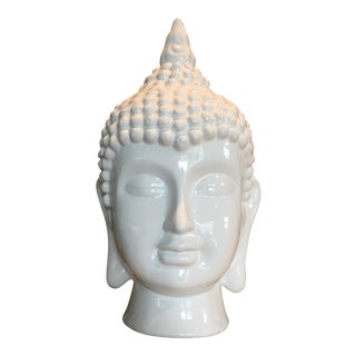 Ceramic Asian Buddha Head For Sale