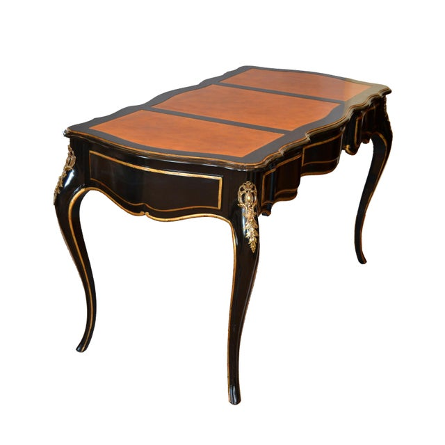 In the Manner of French Louis XV Writing Desk With Stool by Drexel For Sale - Image 9 of 13