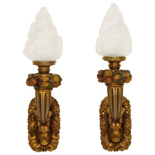 1920s Baroque Style Wall Sconces - a Pair For Sale