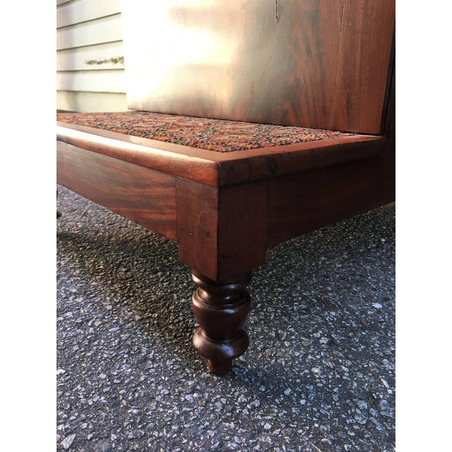 19th Century American Southern Flame Mahogany Bed Steps For Sale - Image 4 of 7