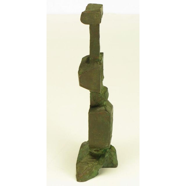 Pair Bronze Male & Female Abstract Sculptures, Signed. - Image 3 of 10