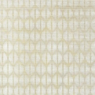 Sample - Schumacher X David Oliver Ovington Sisal Wallpaper in Fog For Sale